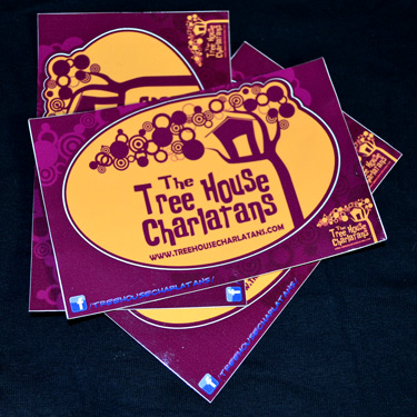 The Tree House Charlatans Merchandise - Standard Oval Die-Cut - Purple & Orange